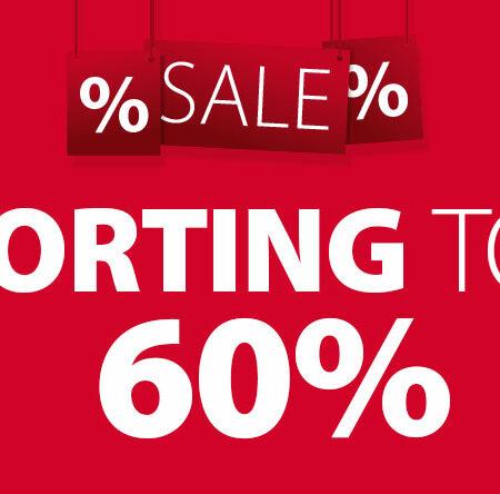 Sale tot 60% korting