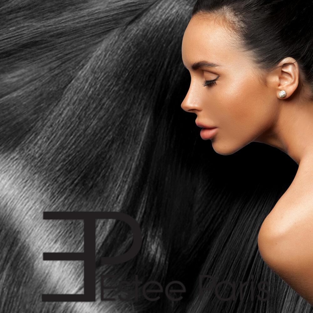 Estee Paris V-part haarstuk kleur zwart