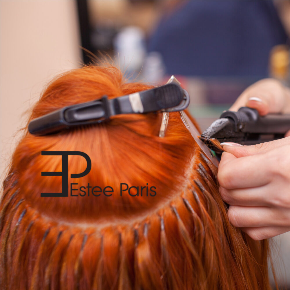 hoe plaats ik keratine hairextensions