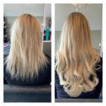 platinum blond hairextensions 60c